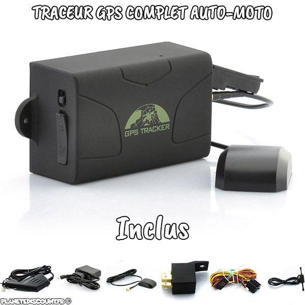 Traceur GPS magnétique avec mode écoute et batterie intégrée