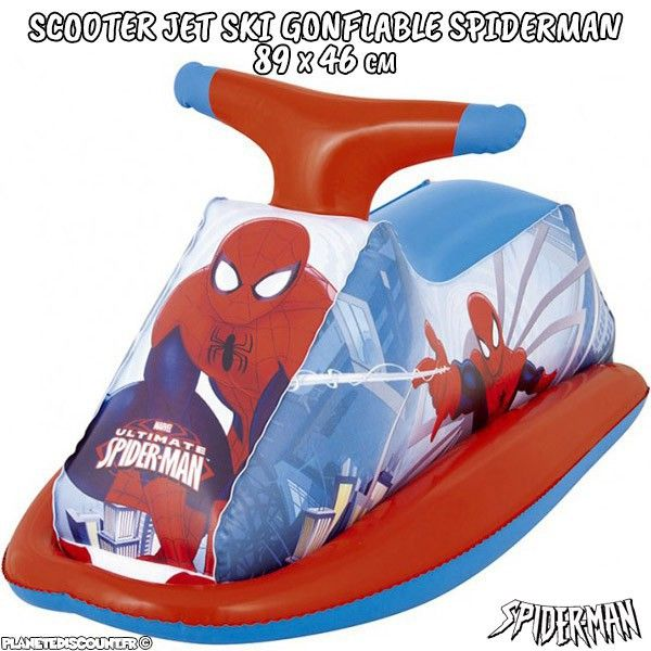 Scooter - Jet ski gonflable Spiderman 89 x 46 cm