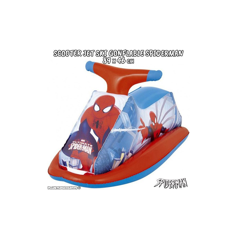 Moto gonflable spiderman achat jet ski scooter spider - Moto spiderman jeux ...