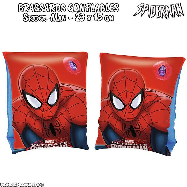 Brassards gonflables Spider-man - 23 x 15 cm