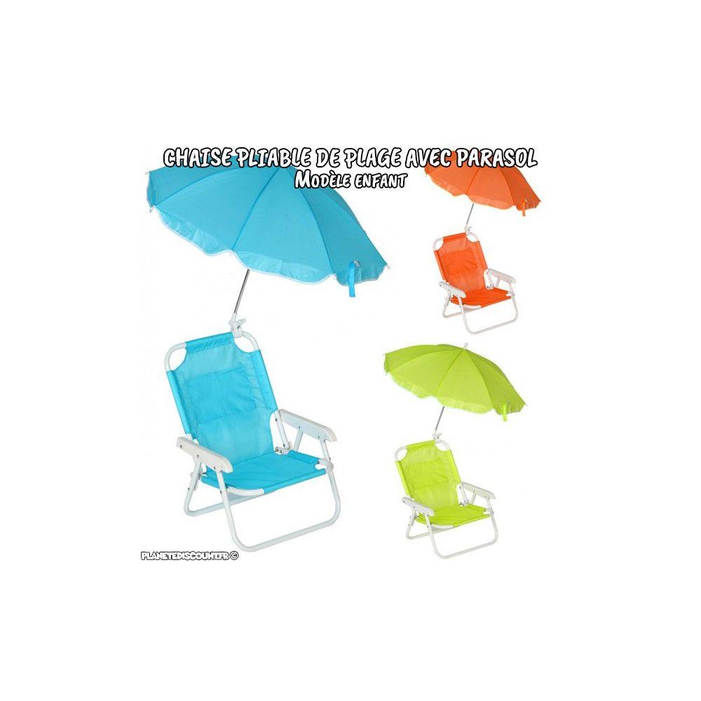 Chaise pliante avec parasol chaise de plage parasol enfant pas cher - Chaise pliante plage ...