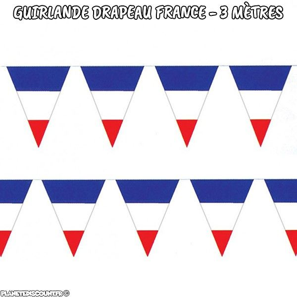 Guirlande drapeaux France 3 mètres