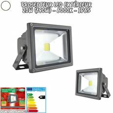 Projecteur LED extérieur - 20W - Blanc froid