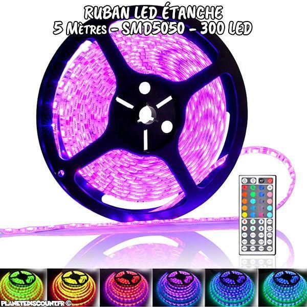 ruban flexible étanche à LED multicouleur