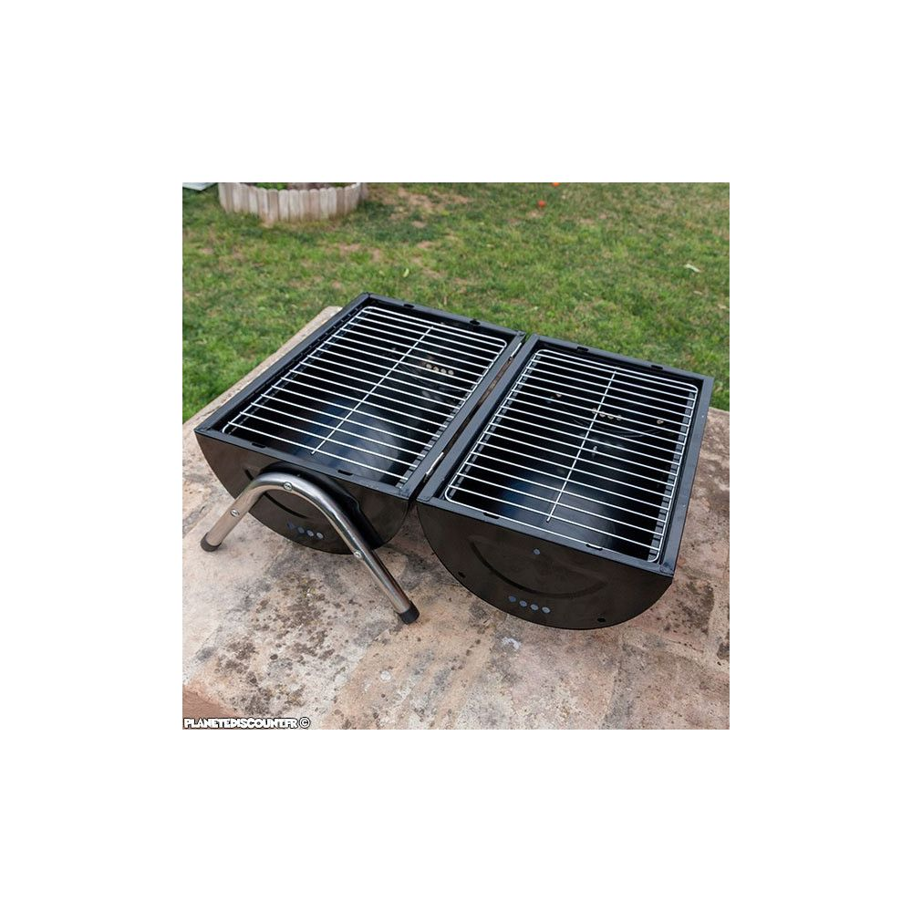 barbecue double grilles achat vente barbecue charbon pas cher. Black Bedroom Furniture Sets. Home Design Ideas