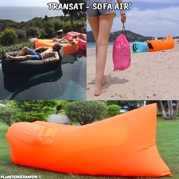 achat vente transat sofa air auto gonflable pop sofa bag orange. Black Bedroom Furniture Sets. Home Design Ideas