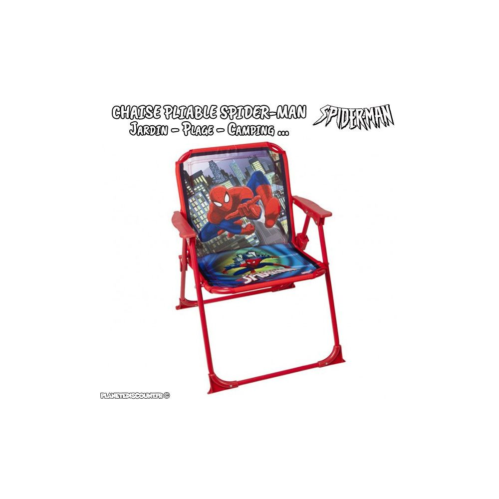 Chaise pliable achat chaise spider man pour jardin for Chaise pliable