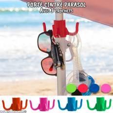 Porte cintre pour parasol avec 3 crochets