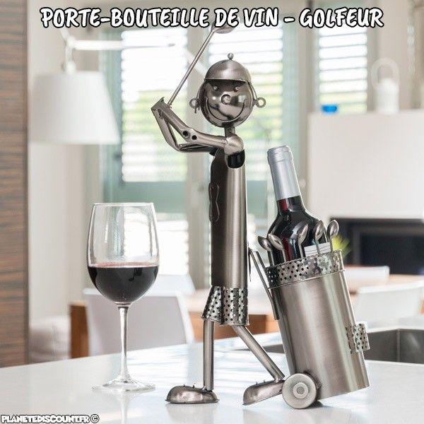 porte bouteille golfeur achat porte bouteille de vin pas cher. Black Bedroom Furniture Sets. Home Design Ideas