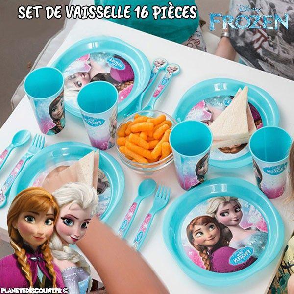 Set de vaisselle 16 pièces - La Reine des Neiges