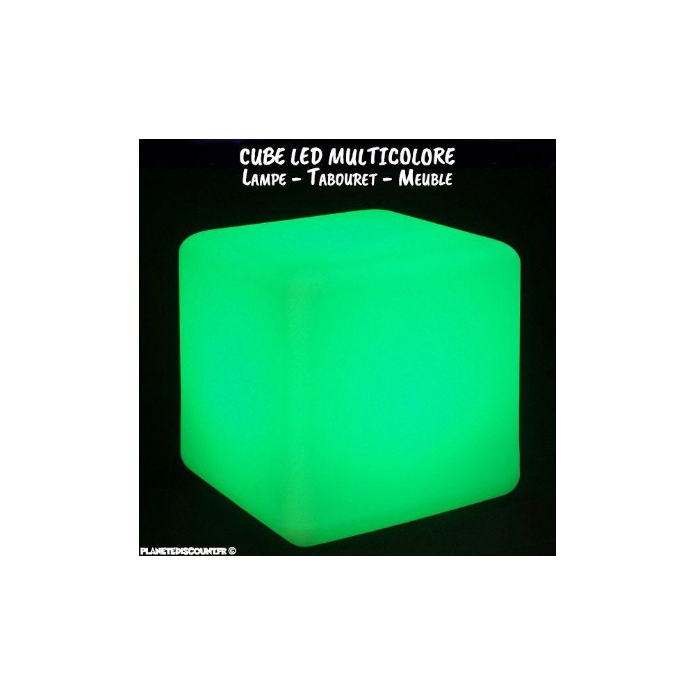 lampe cube led cube lumineux 30 x 30 cm sans fil multicolore pas cher. Black Bedroom Furniture Sets. Home Design Ideas