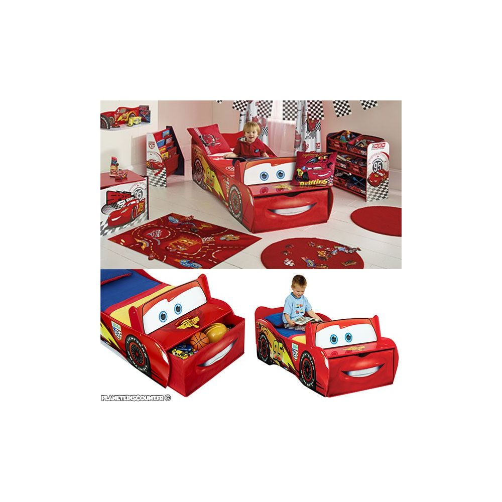 lit enfant cars flash mcqueen lit enfant voiture disney. Black Bedroom Furniture Sets. Home Design Ideas