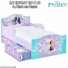 Lit enfant La Reine des Neiges avec rangements Disney