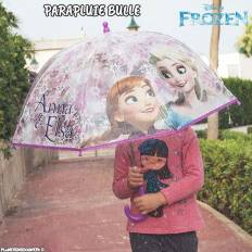 Parapluie bulle transparent La reine des neiges