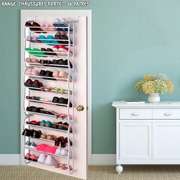 range chaussures porte 36 paires accessoires de rangement pas cher. Black Bedroom Furniture Sets. Home Design Ideas