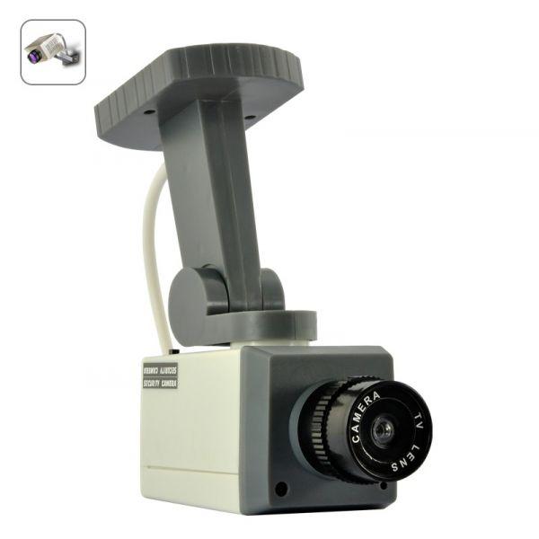Caméra de sécurité factice - Détecteur de mouvements, Voyant LED, Batterie