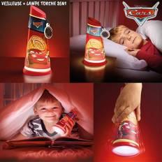 Veilleuse lampe torche Cars 2 en 1 Go Glow