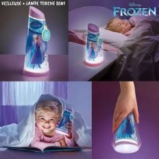 Veilleuse lampe torche la Reine des Neiges 2 en 1 Go Glow
