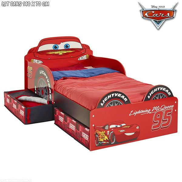 lit enfant disney achat lit enfant cars avec rangements pas cher. Black Bedroom Furniture Sets. Home Design Ideas
