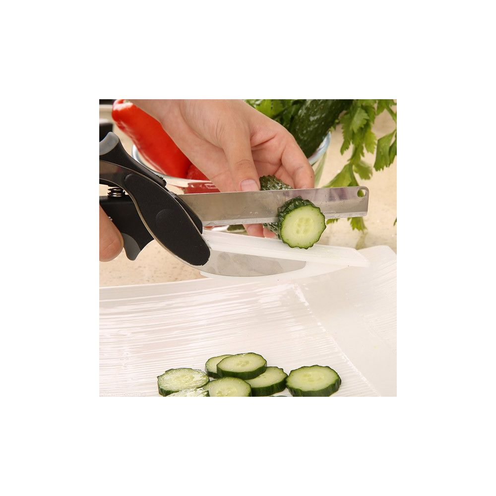 ciseau couteau avec planche d couper r volutionnaire popcut pas cher. Black Bedroom Furniture Sets. Home Design Ideas