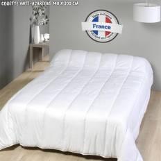 Couette anti-acariens fabrication française 140 x 200 cm 300 gr/m²