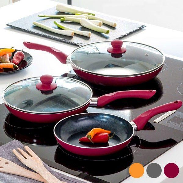 Lot poêles en céramique 5 pièces Cook D'Lux