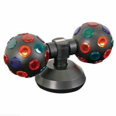 Doubles boules disco rotatives multicolores