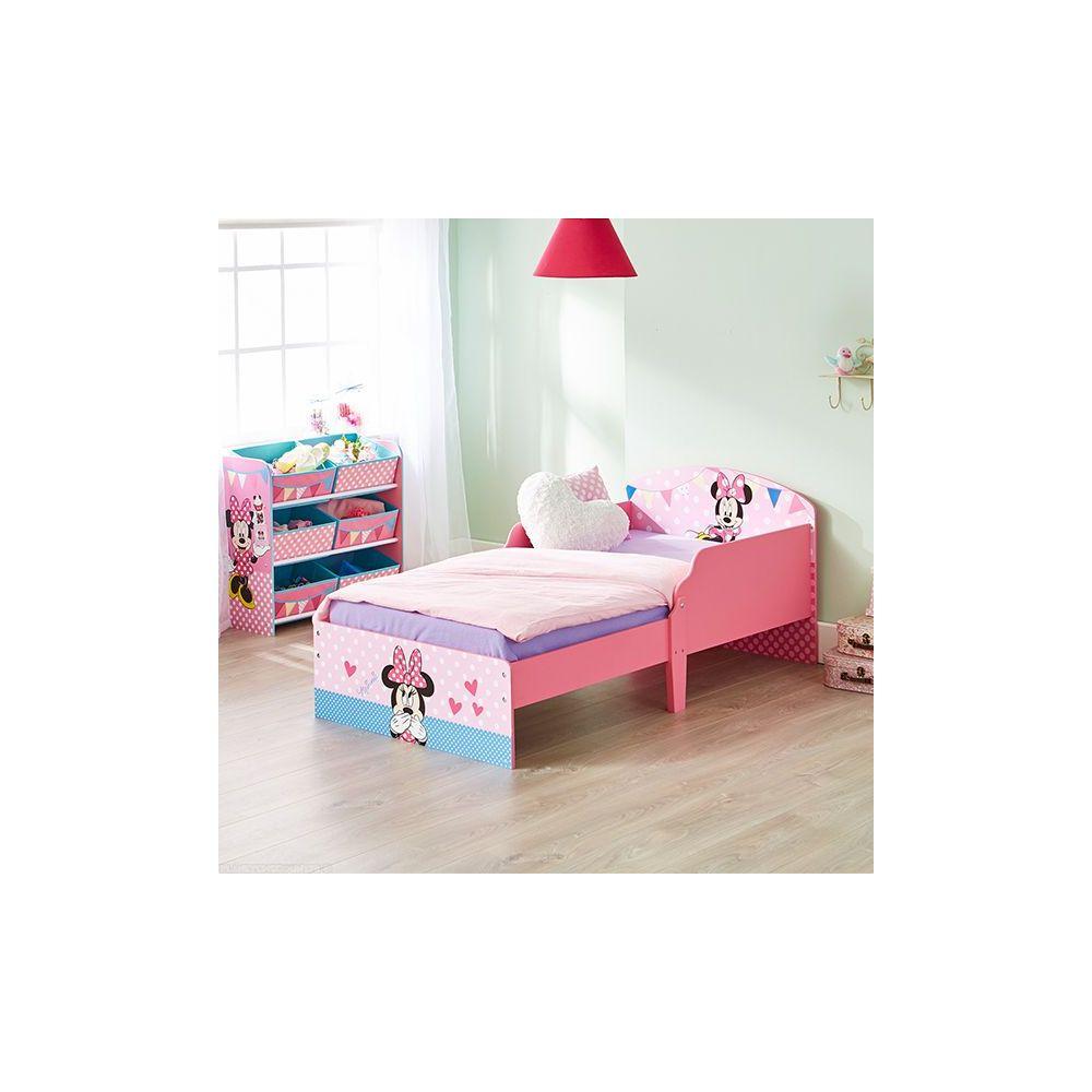lit minnie achat lit enfant minnie en bois disney 140x70 cm pas cher. Black Bedroom Furniture Sets. Home Design Ideas