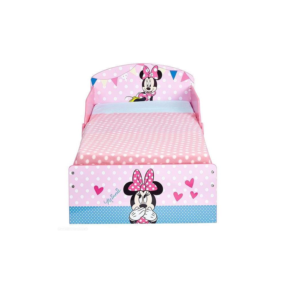 lit minnie achat lit enfant minnie en bois disney 140x70 cm pas cher. Black Bedroom Furniture Sets. Home Design Ideas