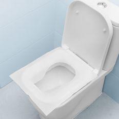 Lot 10 housses de protection hygiénique pour cuvette WC