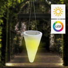 Lampe solaire multicolore à suspendre