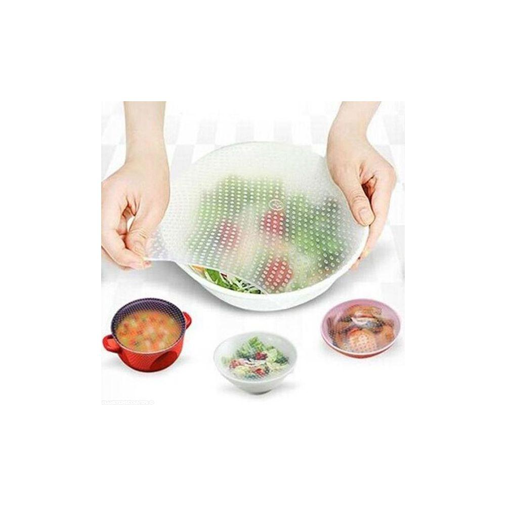 Film alimentaire achat film tirable en silicone x4 pas cher - Film etirable alimentaire cuisine ...