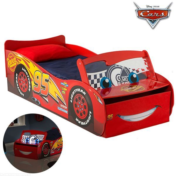 lit voiture cars lumineux lit enfant flash mcqueen disney. Black Bedroom Furniture Sets. Home Design Ideas