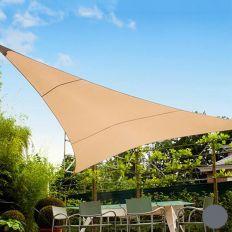 Voile d'ombrage triangulaire 5 mètres