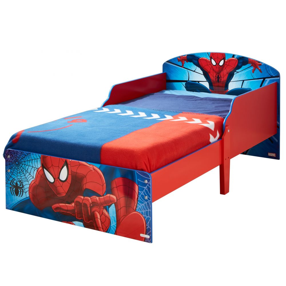 lit spiderman achat lit enfant spider man marvel 140x70 cm pas cher. Black Bedroom Furniture Sets. Home Design Ideas