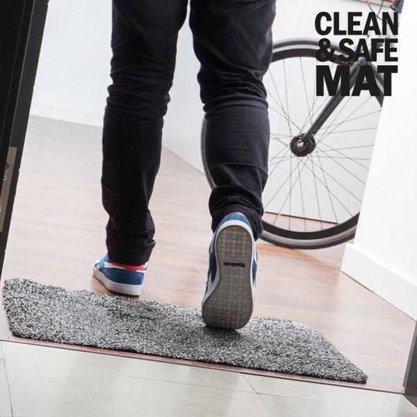 Tapis Magique Paillasson Clean Step Mat Vu TV Microfibre Ultra-absorbant