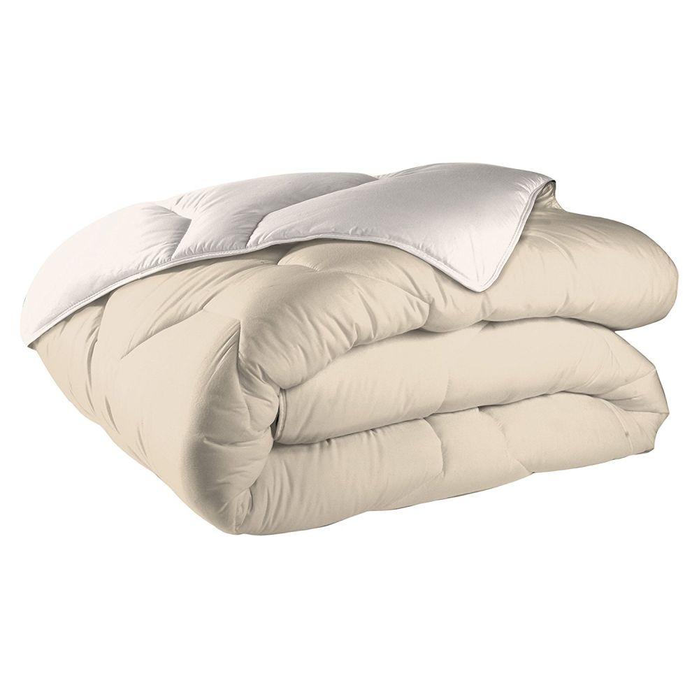 achat couette bicolore 220x240 cm 400 gr m sable ivoire pas cher. Black Bedroom Furniture Sets. Home Design Ideas