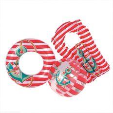 Lot bouée, ballon et matelas gonflables pour enfants