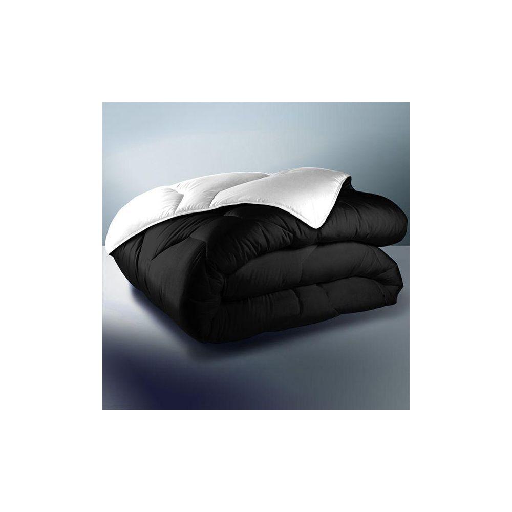 Achat couette r versible 220x240 cm 400 gr m noir blanc for Couette noir