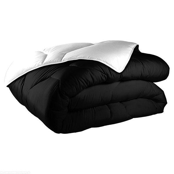 Couette bicolore coton 140x200 cm 570 gr/m² noir blanc