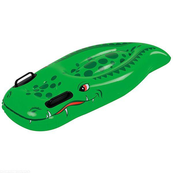 Bouée surf gonflable crocodile 100 x 54 cm