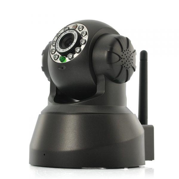 Caméra de sécurité IP - 1/4 pouces CMOS, Pan / Tilt, P2P, IR