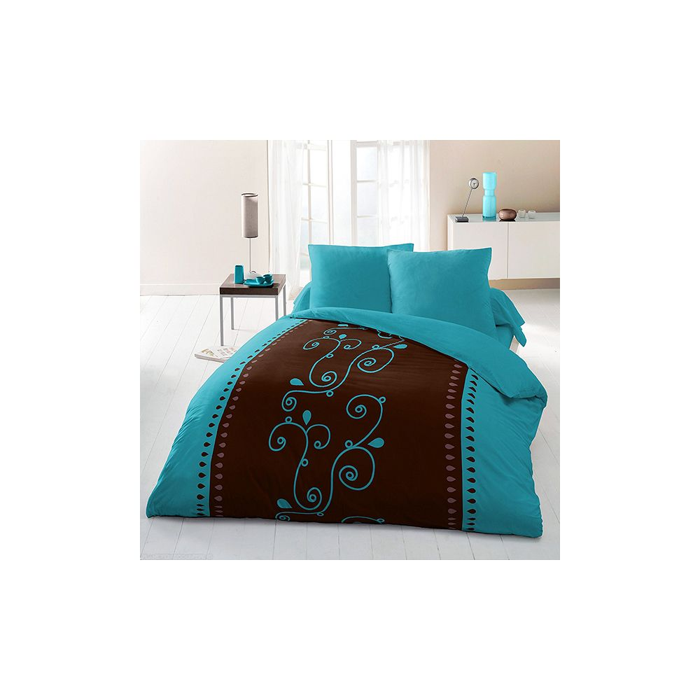 parure de lit housse de couette 220x240 microfibre clochette pas cher. Black Bedroom Furniture Sets. Home Design Ideas