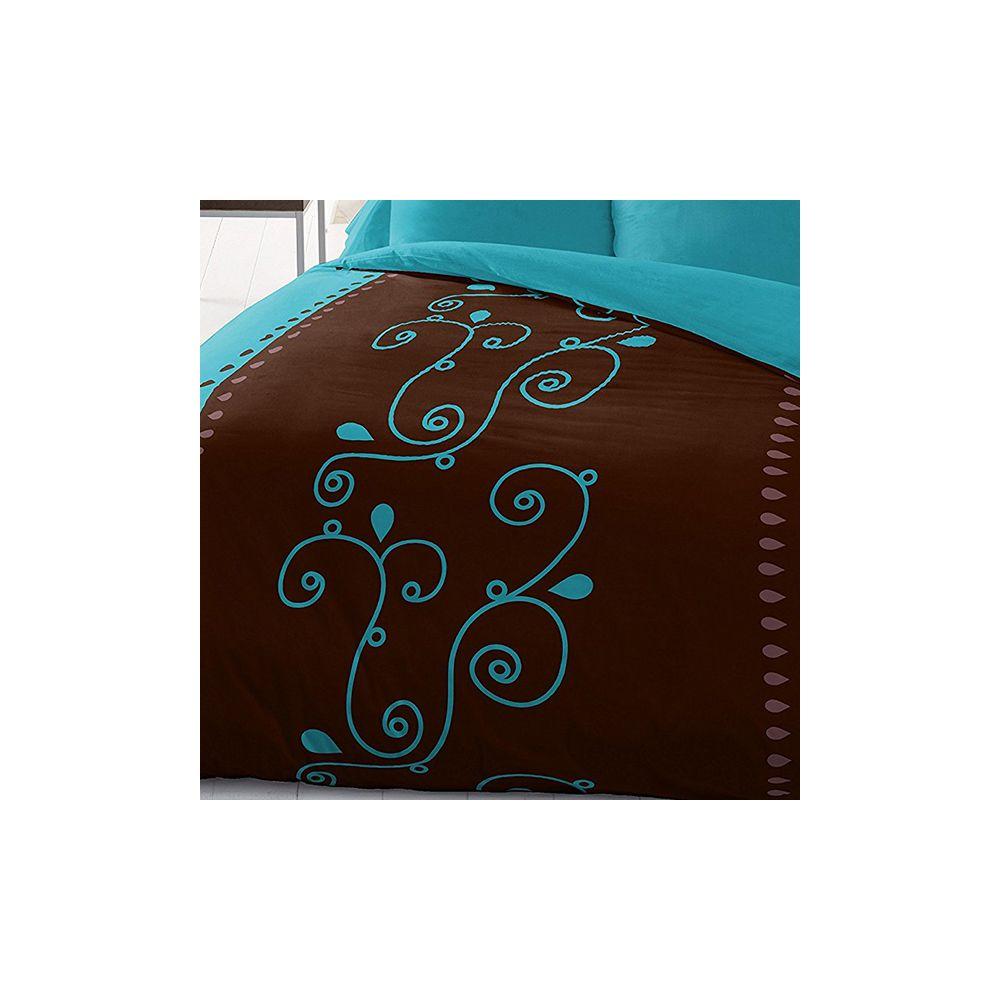 parure de lit housse de couette 220x240 microfibre clochette pas cher. Black Bedroom Furniture Sets. Home Design Ideas