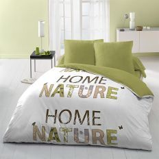 Parure drap house 240x300 cm 4pcs microfibre home nature