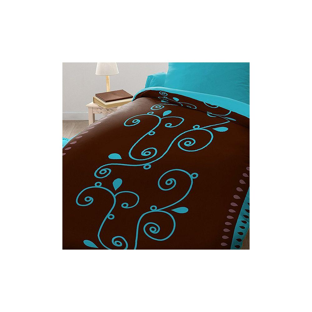 parure de lit housse de couette microfibre 140x200 clochette pas cher. Black Bedroom Furniture Sets. Home Design Ideas