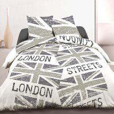 Parure de lit 3 pièces coton 220x240 cm London Flag Rétro