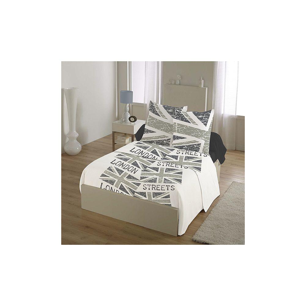 Parure de lit 100 coton 4 pi ces 240x300 london flag - Parure de lit discount ...