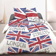 Parure housse de couette 220x240 cm 100% coton London Flag