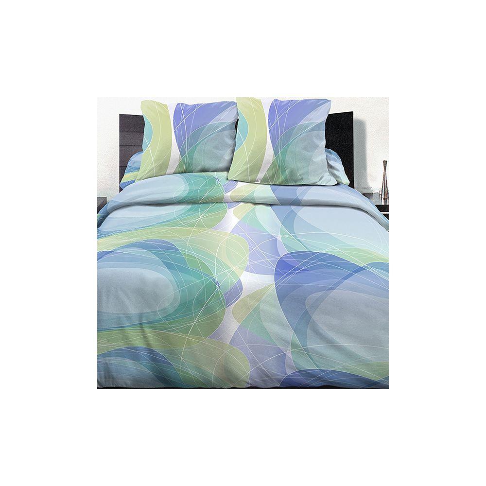 parure de lit housse de couette 220x240 100 coton pyro. Black Bedroom Furniture Sets. Home Design Ideas